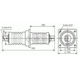 Изолятор проходной ИП-10/1000-7,5 УХЛ2