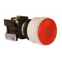 Выключатель кнопочный ВК-43-21 11131 1з+1р красн.гриб с фикс.