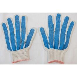 Перчатки с ПВХ 4-х нитка 10 класс 'Капкан' х/б
