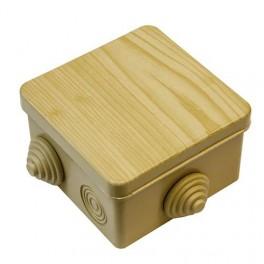 Коробка расп. о/у 8 вводов 100х100х50 IP55 под светлое дерево