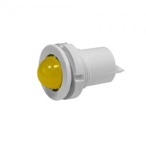Светодиодная коммутаторная лампа СКЛ-11 ЖМ-2-220, желтая, биполярная, матовая 220В