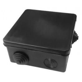 Коробка распаяч. для открыт. проводки 100*100*50мм (квад.), 8 входов ( гермов.),черная IP54,(18),шт.