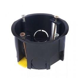 Коробка установочная приборная для полых стен с пластмассовыми лапками 68*45*71