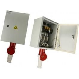 Ящик силовой с автомат. выкл и силовой розеткой ЯВША-3 - 20 А IP54 ( штепс.разъем 30А четырёхштырьковый) ТЭ